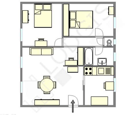 plan appartement 2 chambres appartement moderne
