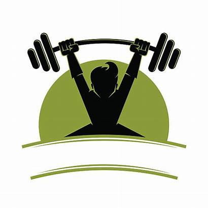 Lifting Weight Vector Symbol Clip Olympic Illustration