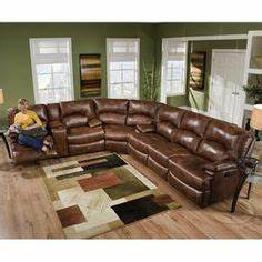 Brown leather match full sleeper reclining sectional sofa for Sectional sofa redo