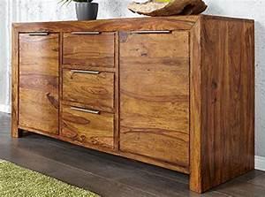 Palisander Holz Kaufen : dunord design sideboard kommode arona 140cm massivholz sheesham palisander massiv holz natur ~ Orissabook.com Haus und Dekorationen
