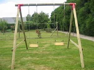 Balancoire Bois Toboggan : balancoire en bois ~ Premium-room.com Idées de Décoration