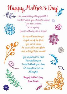 Mother's Day Poetry Cards