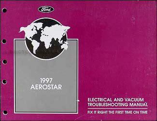 ford aerostar electrical  vacuum troubleshooting