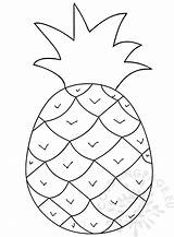 Pineapple Clipart Coloring Fruit Graphic Face Coloringpage Eu sketch template