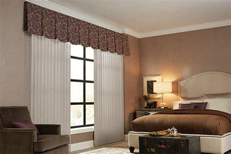 vertical blinds cloth fabric valance graber bedroom
