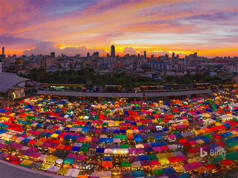 thailand bangkok ratchada night market  bing desktop