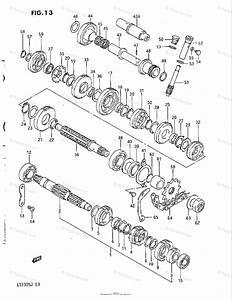 Suzuki Atv 1988 Oem Parts Diagram For Transmission