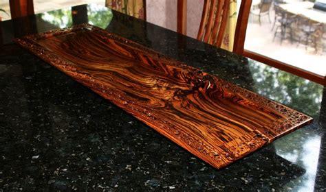 exotic woods   world custom zebrawood center piece