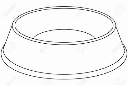 Bowl Dog Clipart Bowls Puppy Sketch Empty