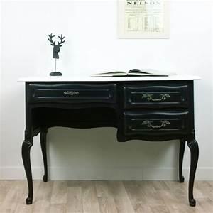Relooking Meuble Ancien : bureau noir et blanc amie paulette meuble ancien relook ~ Melissatoandfro.com Idées de Décoration