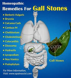 Gall Bladder Stone Treatment In Homeopathy