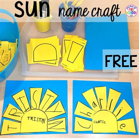 FREE sun name craft plus tons of summer themed activities ...