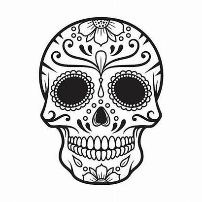 Skull Sugar Clipart Vector Dead Skulls Mexican