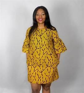 nouveau dans robe jaune africain imprime a la par With robe wax moderne