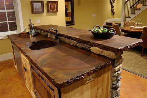Bar With Granite Top - concrete countertops how to do concrete countertops