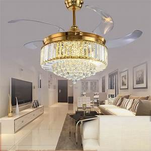 Living room crystal ceiling fans wit best site wiring for Top 6 benefits of using modern ceiling fans