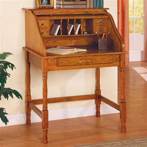 old style wooden desk ellie small roll top desk