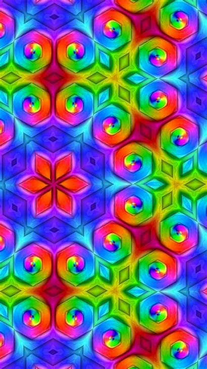 Pattern Ornament Colorful Bright S7 Samsung Saturated