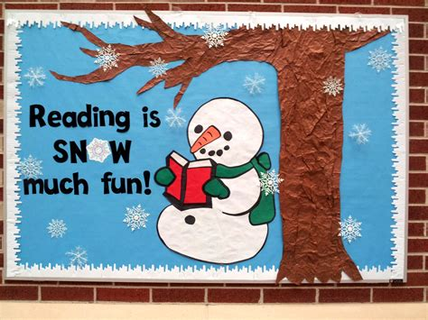 Reading Is Snow Much Fun! Library Bulletin Board