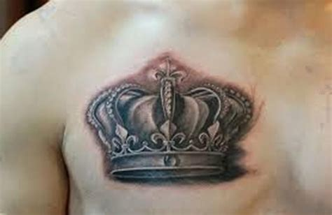 graceful crown tattoos  chest