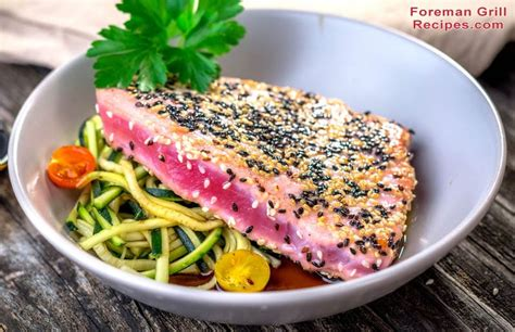 mind blowing grilled tuna   foreman grill recipe