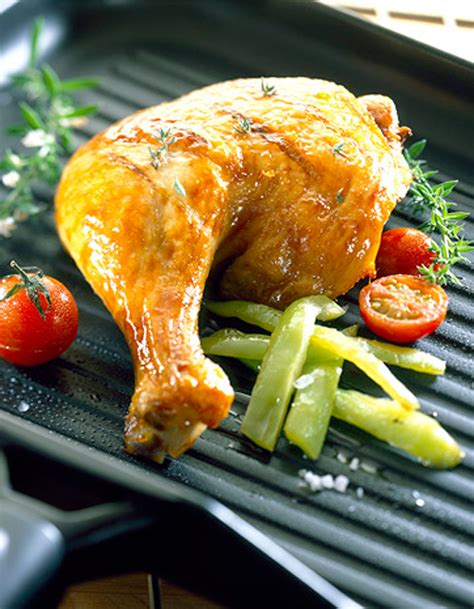 cuisses de poulet grillées à l 39 ail citron et romarin