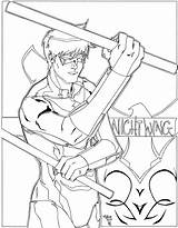 Coloring Nightwing Pages Printable Robin Grayson Batman Dick Sheets Hood Getcolorings Drawing Results Template Educativeprintable sketch template