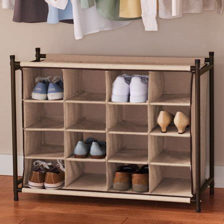 walmart shoe rack canopy 16 pair shoe organizer rich brown walmart