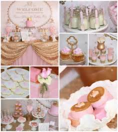pink and gold princess with lots of ideas via kara s ideas karaspartyideas