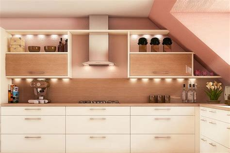 peach colored kitchen cabinets colored with light colors like peach walls and cream