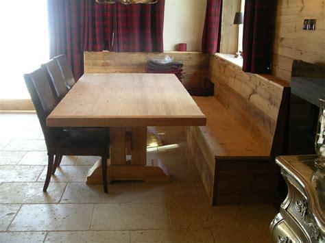 table  banquette photo de agencement interieur dun