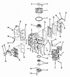 Mercury Marine 35 Hp  2 Cylinder  Cylinder Block Crankcase