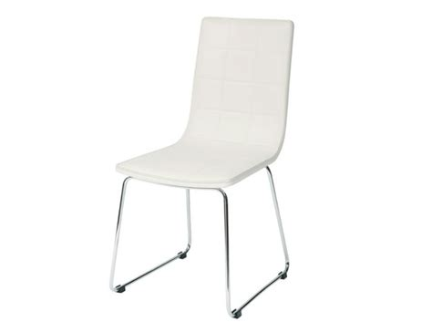 lexmond white faux leather dining chairs