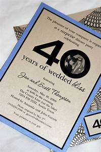 40th anniversary party ideas visit theposhpen com 40th With cheap 40th wedding anniversary invitations
