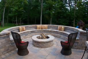 Patio Bar Ideas Diy by Backyard Fire Pit Patio Traditional With Bench Seating