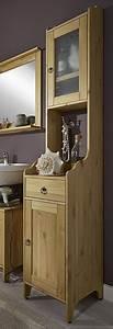 Bad Hochschrank Holz : bad hochschrank kiefer gelaugt ge lt wei badschrank holz massiv massivholzmoebel experte ~ A.2002-acura-tl-radio.info Haus und Dekorationen