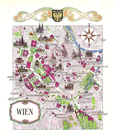vintage vienna austria picture map pictorial cartoon map