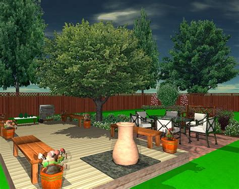 Free Backyard Design - this simple easy landscape design was created