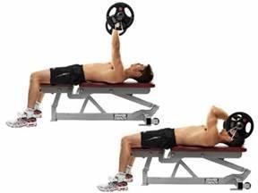 EZ-Bar Lying Triceps Extension Exercise • Bodybuilding Wizard