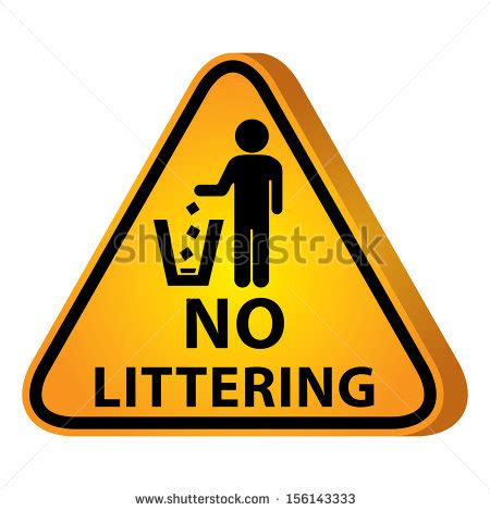 No Littering Sign Stock Photos, Images, & Pictures
