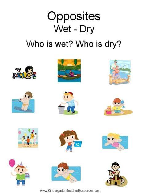 opposites wet dry wet  dry preschool weather