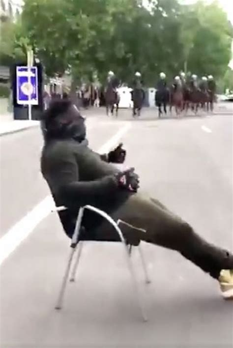 protester towards charge mounted police matter lives chills seated him chair snapchat winandy