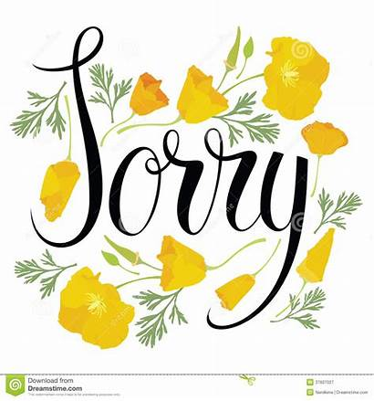 Sorry Flowers Card Yellow Clip Apology Clipart