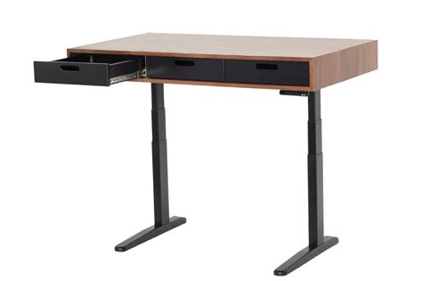 The Evolve Modern Adjustable Standing Desk Featuring The