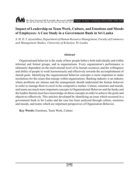 impact  leadership  team work culture
