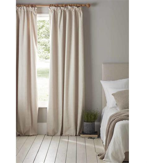 natural linen blackout curtains pair   portugal