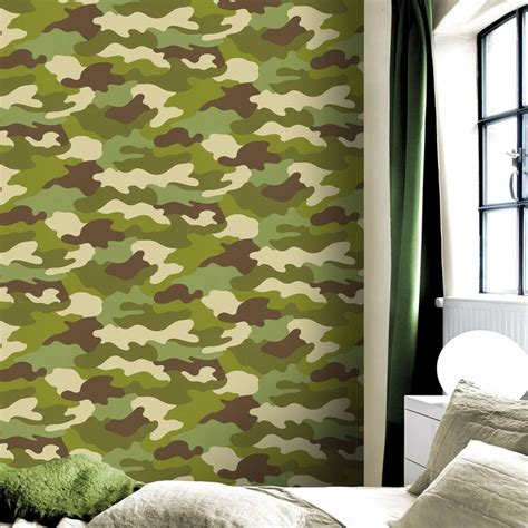 camouflage behang charactersmanianl