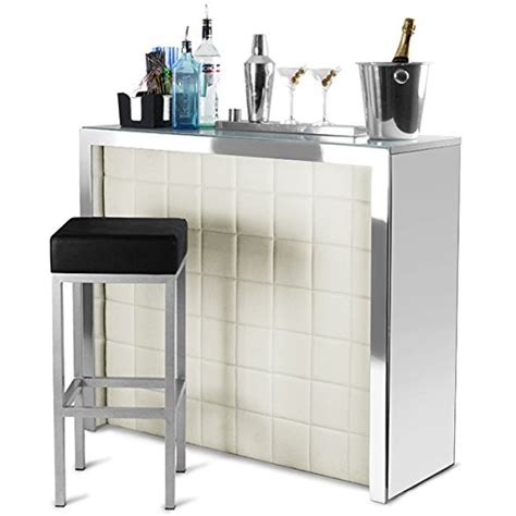 Cocktail Bar Furniture by Home Bar Counter With Faux Leather Front