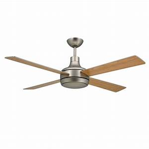 Quantum ceiling by troposair fans satin steel finish with for Ceiling fans with lights