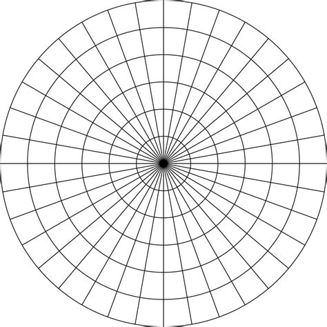 polar grid  degrees  radius  clipart